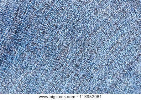 Detail Of Blue Blanket Textile Texture Background