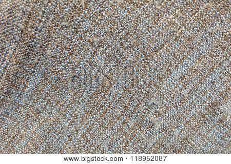 Blue And Brown Blanket Textile Texture Background