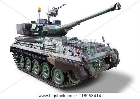 Modern Military Tank With Cannon