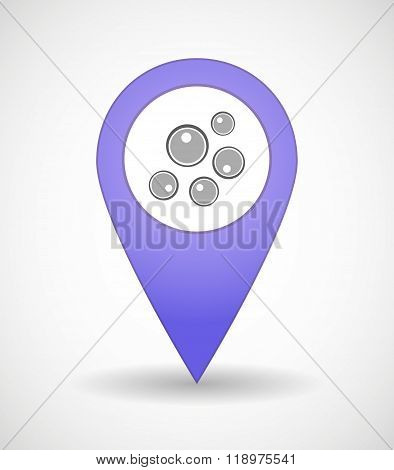 Map Mark Icon With Oocytes