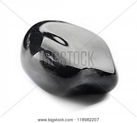 Black onyx isolated on white background