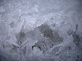 This is snow frosty pattern on winter window poster