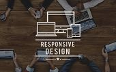 Responsive Design Information Content Layout Concept poster