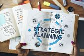 Strategic Planning Statement Vision Mission Concept poster