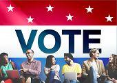 Vote Voting Election Politic Decision Democracy Concept poster