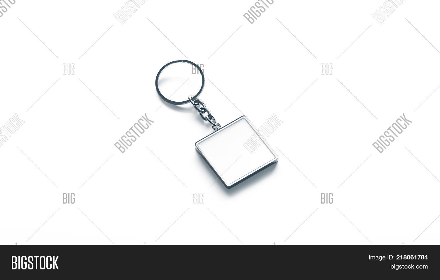 Blank metal square white key chain image photo bigstock blank metal square white key chain mock up side view 3d rendering clear silver keychain buycottarizona Gallery