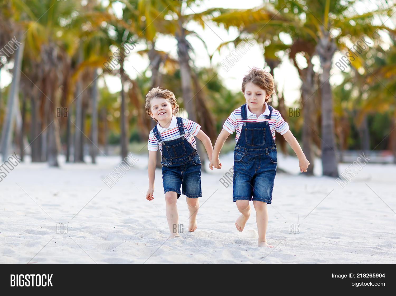 Two Little Kids Boys Image Photo Free Trial Bigstock
