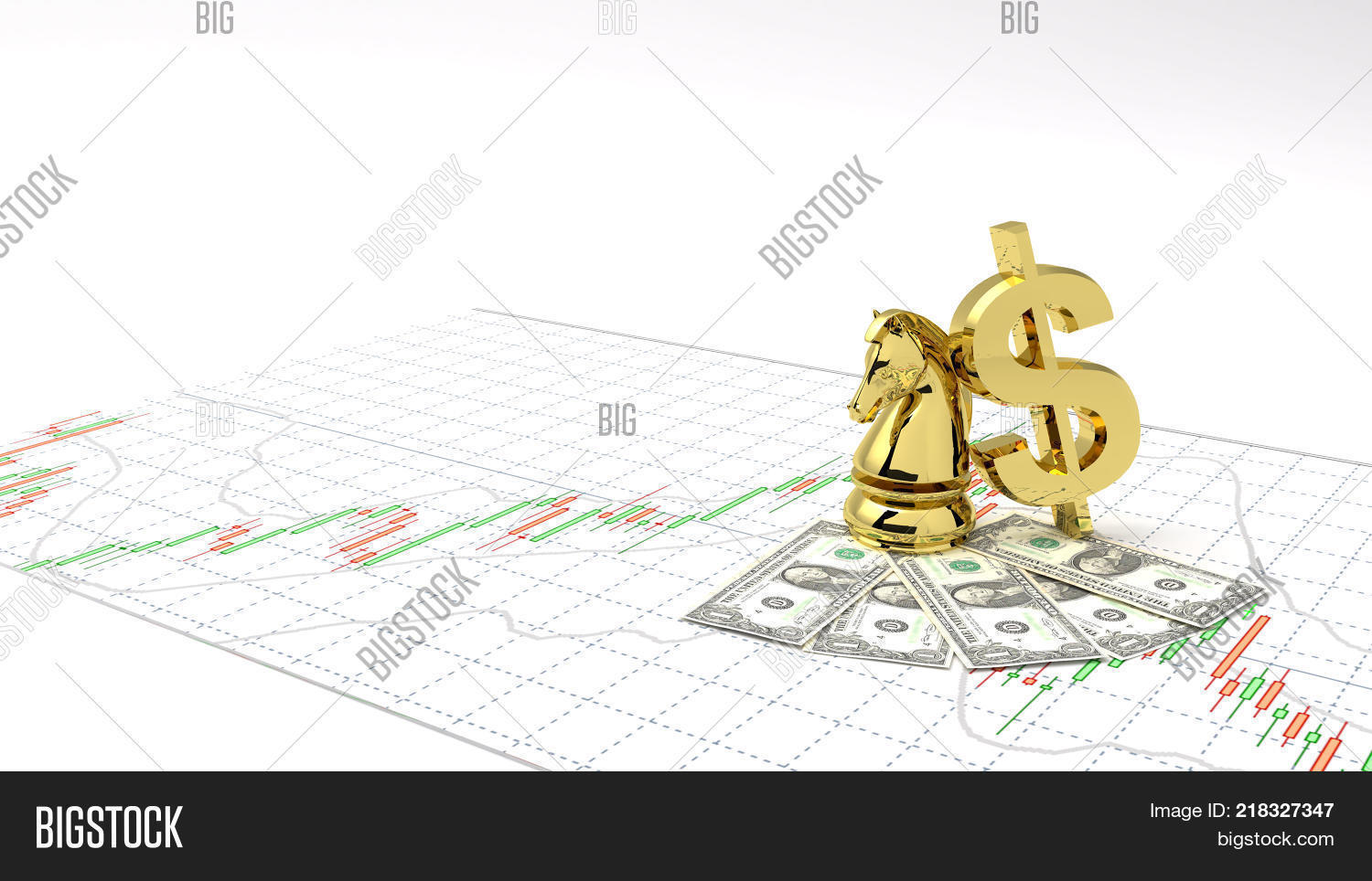 Chess horse symbol gold dollar image photo bigstock chess horse symbol gold dollar money and gold make profit investment stock market candlestick graph 3d biocorpaavc Images