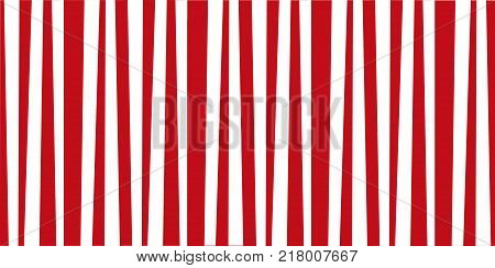 Festive pattern template with red and white vertical stripes. Vintage retro stripes design. Creative vertical banner. Vector illustration for design banner card poster.