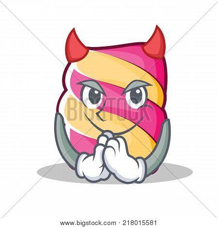 Devil marshmallow character cartoon style vector illustartion