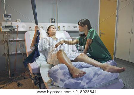 Rehabilitation at the hospital