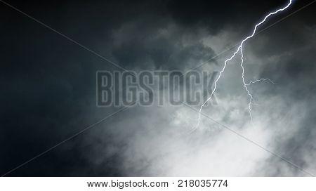 Dramatic thunder background poster