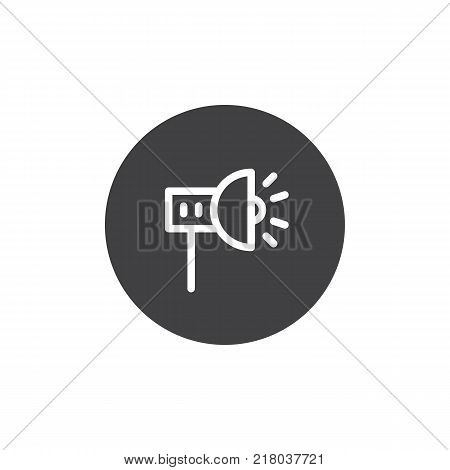 Scenic spotlight icon vector, filled flat sign, solid pictogram isolated on white. Symbol, logo illustration.