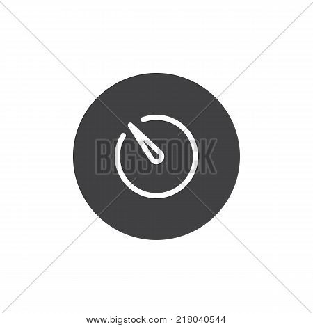 Camera timer icon vector, filled flat sign, solid pictogram isolated on white. Photography camera time mode symbol, logo illustration.