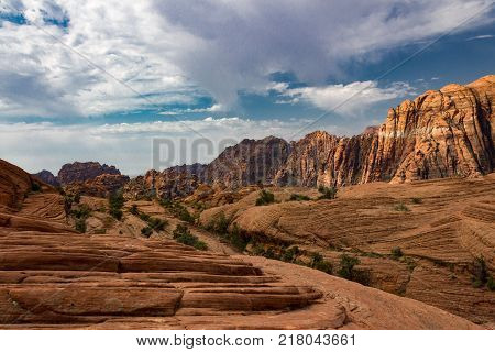 Incredible Snow Canyon State Park near St. George Utah.