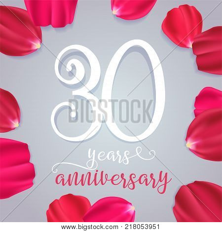 5 years anniversary vector icon logo. Graphic design element with numbers for 5th birthday or wedding anniversary greeting card
