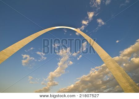 Gateway Arch At Sundown