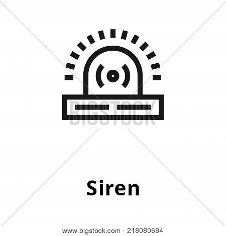 Siren thin line icon. Icon for user interface and web