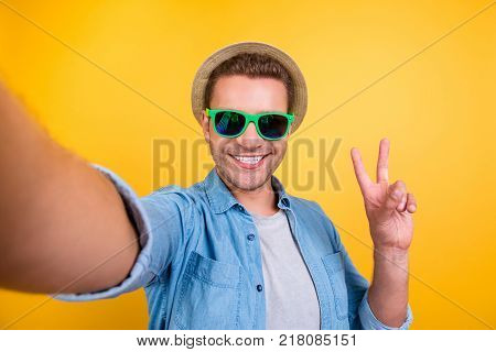 Bearded, Attractive, Young Journalist In Hat, Casual Outfit Using, Having, Holding Photo Camera, Sho