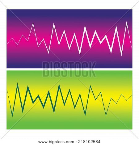 Vector pulse waves. Music player logo. Vector colorful equalizer element