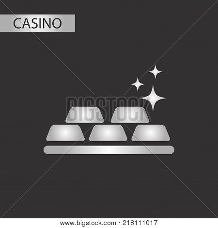 black and white style poker gold bullion