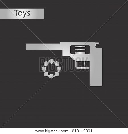 black and white style Kids toy pistol