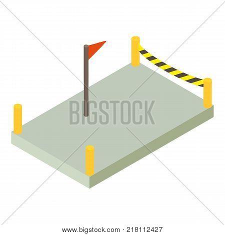 Building construction foundation icon. Isometric illustration of building construction foundation vector icon for web