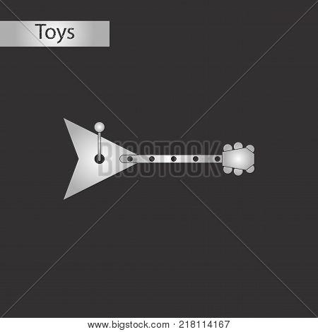 black and white style Kids toy balalaika