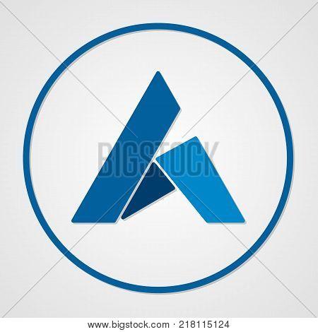 Ardor coin cryptocurrency. Vector sign icon. Internet money