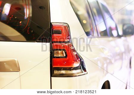taillight of a new off-roader close up