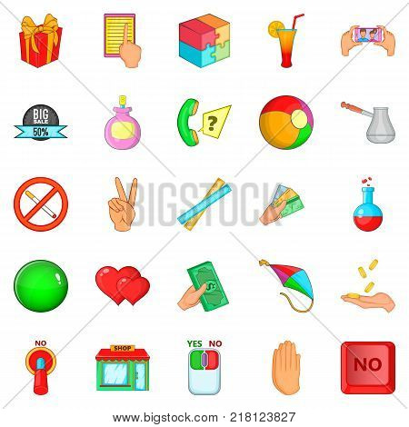 Feedback icons set. Cartoon set of 25 feedback vector icons for web isolated on white background