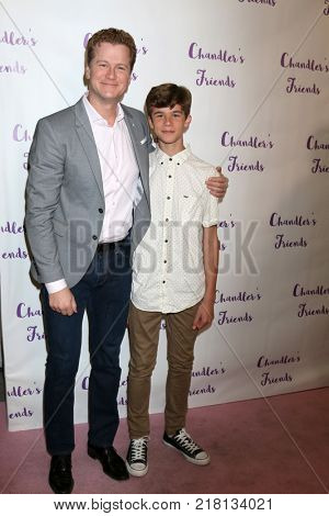 LOS ANGELES - DEC 10:  Jonathan Mangum, Chase Mangum at the Chandler's Friends Toy Drive & Wrapping Party  at Los Angeles Ballet Academy on December 10, 2017 in Los Angeles, CA