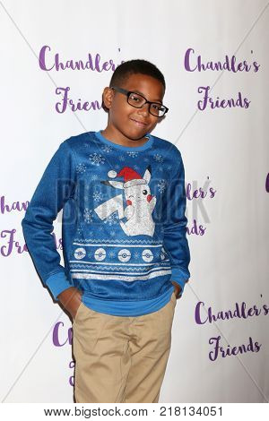 LOS ANGELES - DEC 10:  Malachi Ryan at the Chandler's Friends Toy Drive & Wrapping Party  at Los Angeles Ballet Academy on December 10, 2017 in Los Angeles, CA