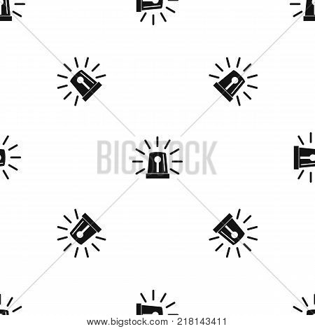 Flashing emergency light pattern repeat seamless in black color for any design. Vector geometric illustration