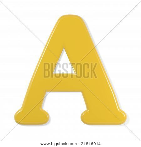 yellow font - letter a