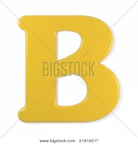 yellow font - letter b