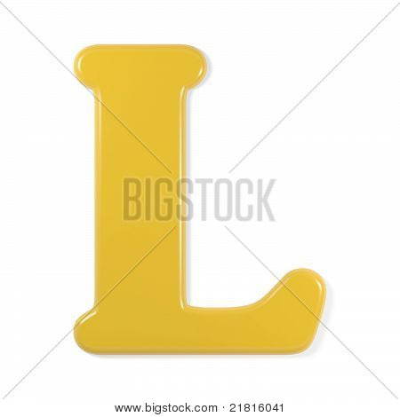 yellow font - letter l