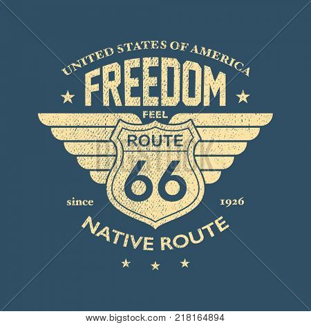 The Great American Road - Tee Design For Print.  jpeg version