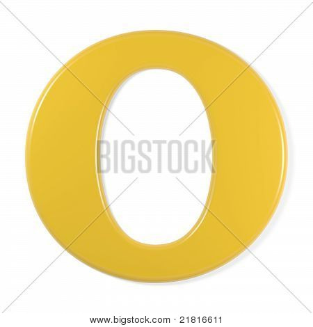 yellow font - letter o