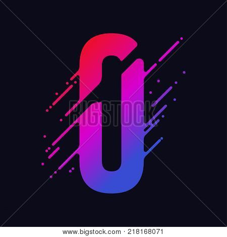 Number 0 with liquid splash and drops, abstract colorful digits, ink mathematic symbol, stylized numeral, dynamic paint trail font. Vector