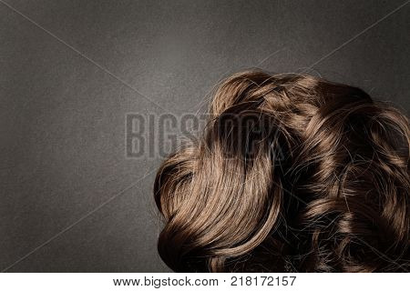 long brown hair as background
