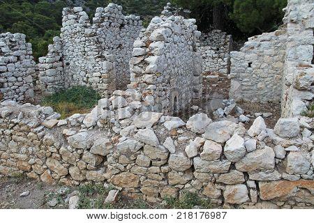 North Necropolis. Ruins of ancient city Olimpos in Lycia. Antalya Province. Turkey