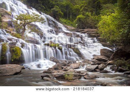 Mae Ya waterfall at Doi Inthanon national park Chiang Mai Thailand