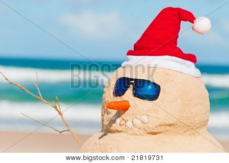 Perfect Sandman With Carrot Nose And Sunnies