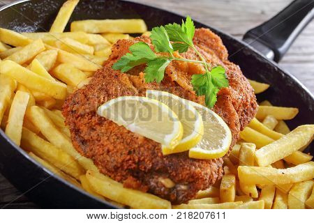 Cutlet Cordon Bleu With French Fries