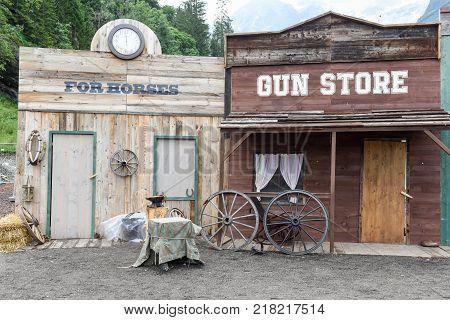 Shops Of A Wild West Cowboy Town