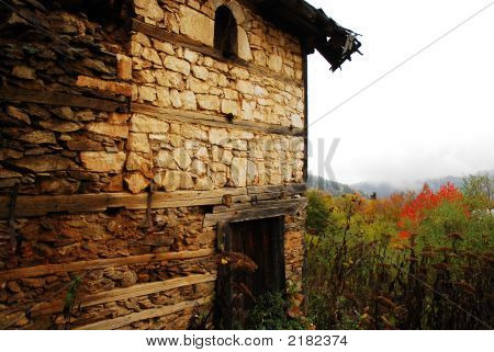 Old Ruined Village House