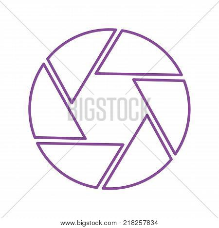 Shutter closeup vector icon with trendy line style, great for photographer logo. Illustrated vector.