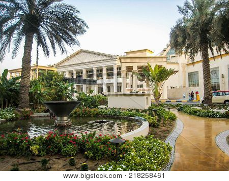 modern mansion with a park in Dubai UAE