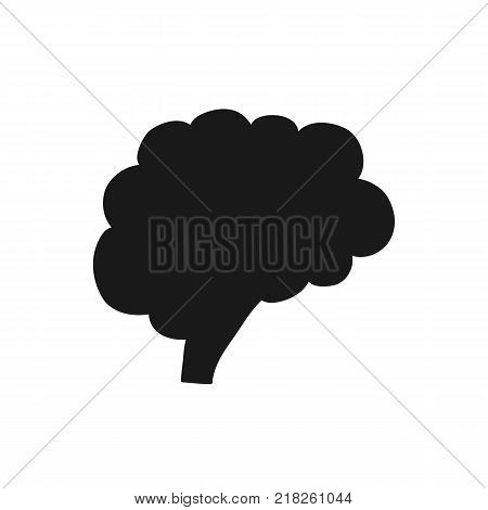 Human brain mind icon isolated on white background. Vector stock.